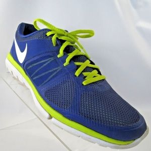 Nike Flex Run Sz 11 Green Blue Running Mens Shoes